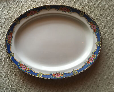 VINTAGE BOOTHS SILICON CHINA 1920s/1930s Made For Harrods. Oval Platter 15 X 12 • 8£