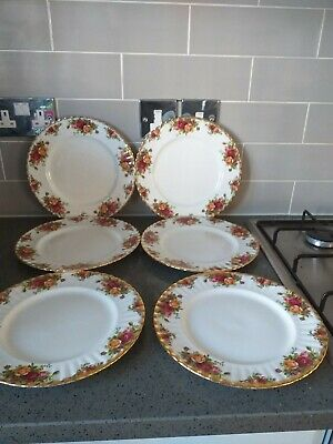 6 Royal Albert Old Country Roses Dinner Plates • 48£