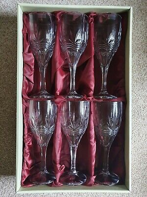 6 Galway Crystal Wine Goblets • 8.60£