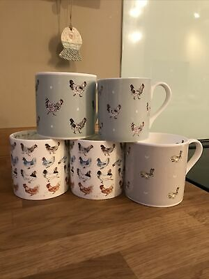 Sophie Allport Mugs X 5 Chicken And Hare. 4 X Large 1 X Small • 15£