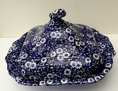 Burleigh Blue Calico Square Serving Tureen • 55£