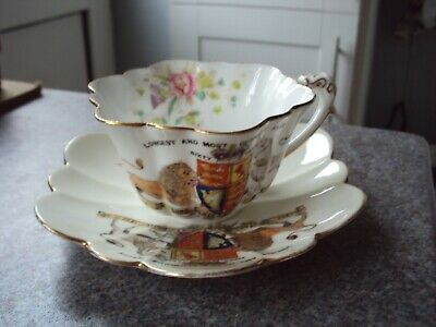 Queen Victoria Most Glorious.reign Bone China Cup And Saucer Foley • 15£