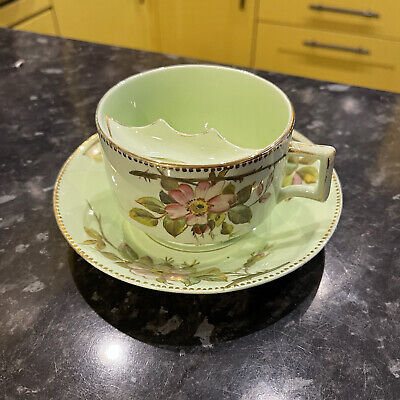 Antique Bodley Mustache Cup And Saucer • 45£