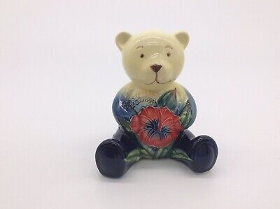 Old Tupton Wear Ceramic Navy Blue & Red China Teddy Bear With Flower On Jacket • 14.99£