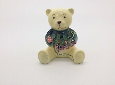 Old Tupton Wear Ceramic Floral Teddy Bear - New Baby Christening Gift • 14.99£