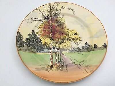 """1929 - Royal Doulton Autumn Glory - 10.5"""" Wall Plate - Signed Charles Noke D4714 • 29.99£"""