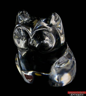 Orrefors Sweden Large Owl Clear Crystal Glass Figural Art Paper Weight Signed • 43.88£