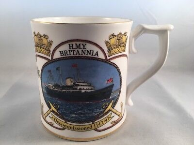 Sutherland Bone China Ltd Edition Cup Decommissioning Of HMY Britannia 1997 • 20£