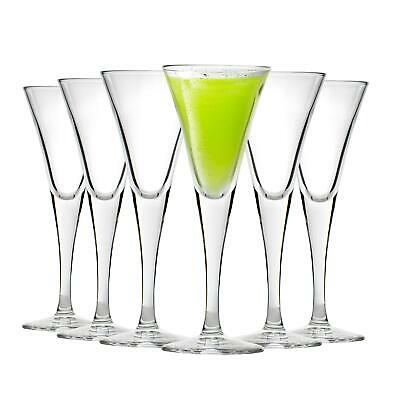 Stemmed Sherry Glasses, 55ml Fiore Clear Barware Drinking Tableware - Set Of 6 • 14.99£