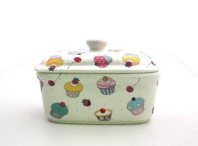 Cupcakes  Butter Dish  Fine China  • 12£