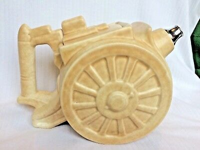 1930s George Clews & Co Pottery  BELISHA  Artillery / Cannon Teapot • 85£