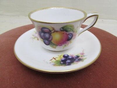 Royal Worcester Fruits Tea Cup And Saucer Richard Seabright  • 24.95£