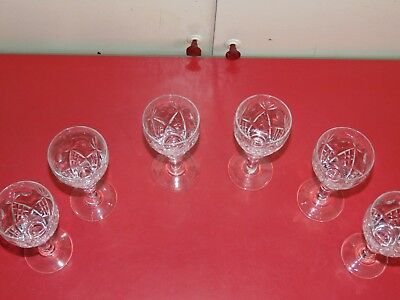 Royal Brierley Matching Set Of Six Wine Glasses Crystal Cut  • 45.99£