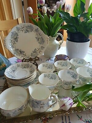 "Vintage Royal Albert ""Silver Maple"" Tea Set 21-Piece – Lovely Condition • 149.99£"