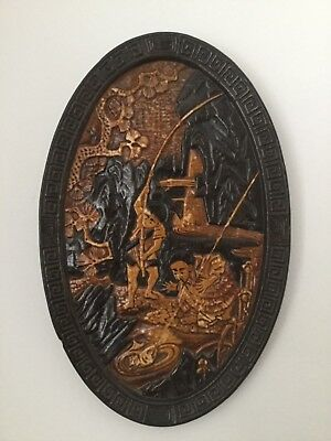 Large Bretby England Pottery Oval Wall Plaque Numbered 1510  • 23£