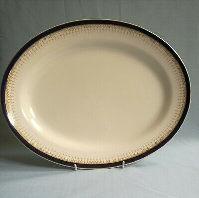 Soho Pottery Queens Blue Solian Ware 1 X Serving Plate 14  X 11  Exceptional • 10£