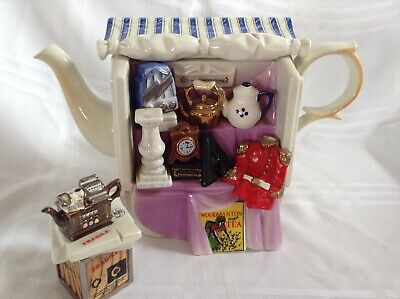 Cardew Novelty Collectable Lge Teapot Antique Market Stall + Sugar Gd Condition • 45£