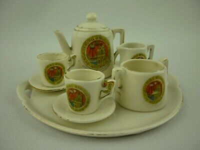 Gemma Mini Porcelain Tea Set Borough Of Scarborough Crest • 19.99£