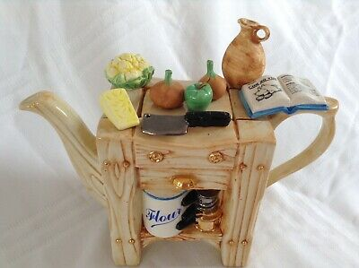 Teapottery Swineside Novelty Collectable Teapot Kitchen Island Great Condtion • 32£