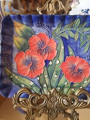 Old Tupton Ware Plate Tray Hibiscus Design Hand Painted • 29.99£