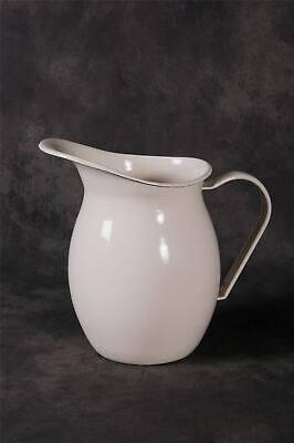 New 18cm Cream Enamel Kitchen Jug Honey Pot House Homeware • 23.99£