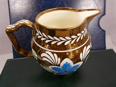 Grays Pottery Pretty Gold Lustre Jug Vintage Collectable • 40£