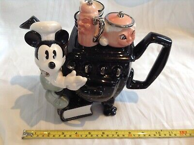 Rare Cardew Large Collectable Novelty Teapot Mickey Mouse Stove,great Condition • 38£