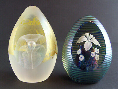 Two Okra Richard Golding Signed & Numbered Paperweights - Both Limited To 1000 • 295£