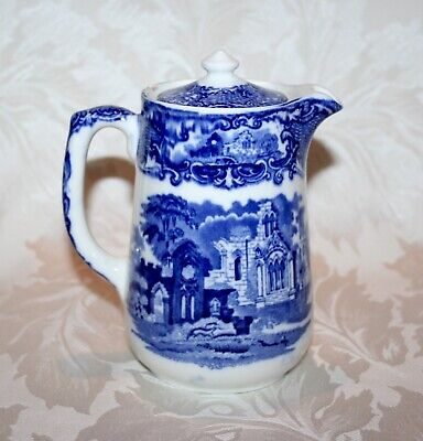 "Antique George Jones ""abbey"" Hot Chocolate/water Transfer Ware Jug  • 11.99£"
