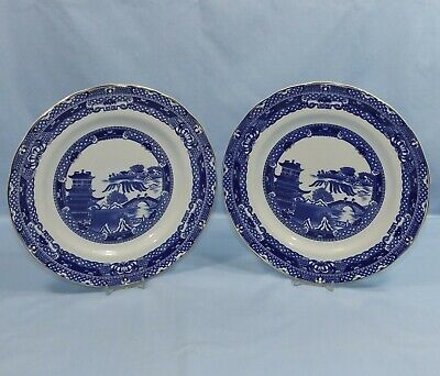 Wade For Ringtons Exclusive Willow Pattern Pair Of Dinner Plates • 9.95£