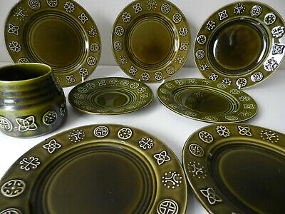 Vintage 1960/70s Lord Nelson Pottery Green Glazed Geometric Print Choose  • 9.95£