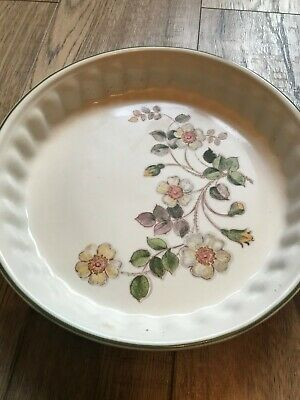 Vintage Marks And Spencer Autumn Leaves Flan Dish  • 8.99£