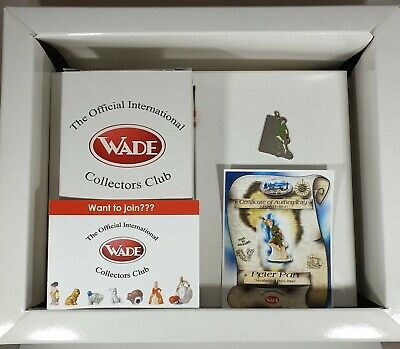 Wade Peter Pan Limited Edition Membership Piece 2002 Box Pin And Certificate • 15£