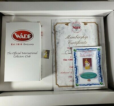 Wade Cinderella Limited Edition Membership Piece 2001 Box Pin And Certificate • 15£