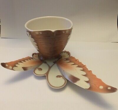 Franz Porcelain Butterfly Cup And Saucer With Original Box • 60£