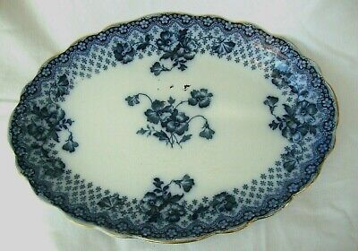 Antique Tableware Flow Blue Family Sharing Serving Table Meat Platter Charger  • 60£
