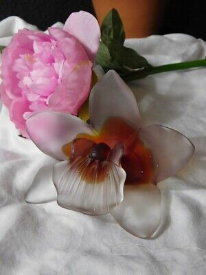 Antique French Glass Lily Flower Ornament • 95£