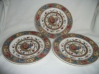 3 Antique Design 'Palmyra' Plates – Ref 2039 • 8.25£