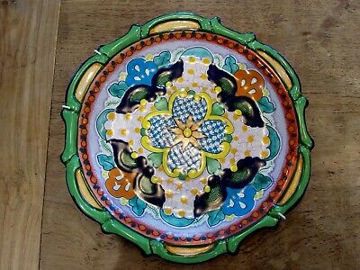 A Vintage Hernandez Colourful Mexican Pottery Plate  • 50£