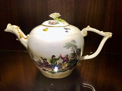Meissen Porcelain Floral Teapot And Cover C1750 With Provenance • 450£