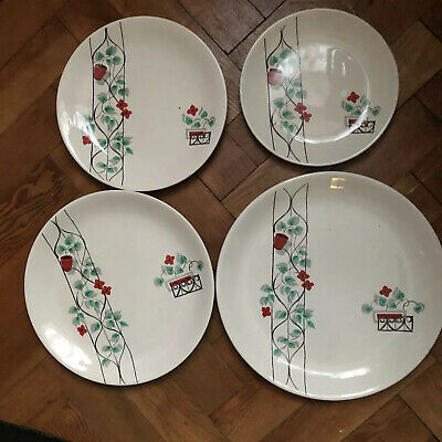 Swinnertons Philodendron - Unusual Part Dinner Service 1950s 2Tureens 16 Plates • 45£