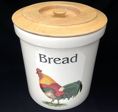T.G Green Cloverleaf Farm Animals Bread Crock/Bread Bin Cockerel Design • 35£