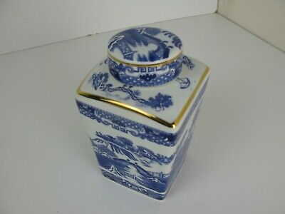 Ringtons Willow Pattern Tea Caddy By Wade Ceramic 1991 Maling • 14.99£