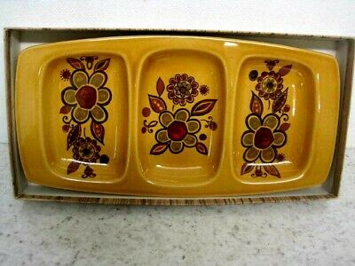 Vintage Royal Worcester  Palissy 'Sierra'  Small Divided Serving Dish For Snacks • 5£