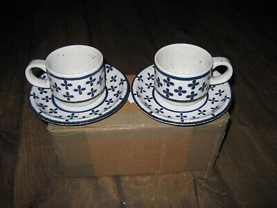 Midwinter Stonehenge. Country Blue. 2 X Cup And Saucer. • 13.50£