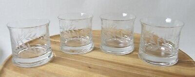Lovely Set Of Four Gleneagles Crystal Whisky Tumblers • 28£
