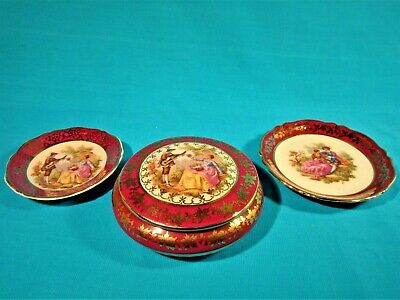 Small Collection Of Crimson Limoges Items - NO RESERVE • 4.20£