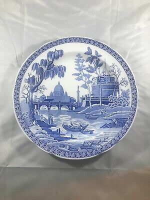 A Spode Plate From The Blue Room Collection  Called 'Rome' Georgian Series • 5£
