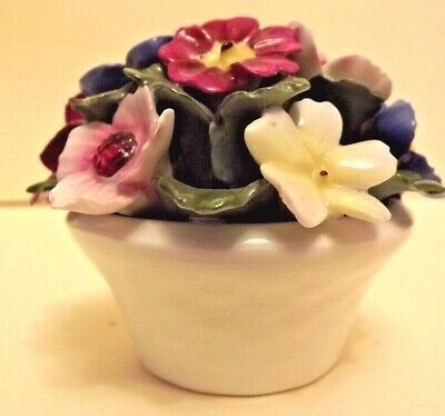 Aynsley BOWL OF FLOWERS. Small Ornament. • 4£