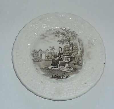 Antique Scottish Pottery Childrens Or Dolls Plate C1820  • 9.99£